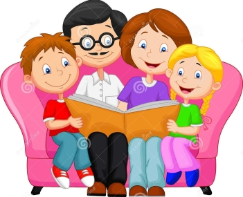 happy-family-reading-book-illustration-45672105