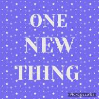 one new thing graphic